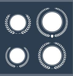 best award award laurel wreath set winner vector image