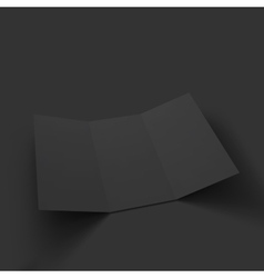 Blank tri fold paper brochure mockup vector