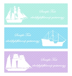 boat sea shipping vector image