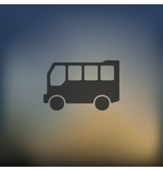 bus icon on blurred background vector image