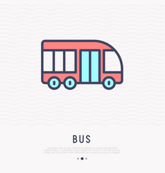 bus thin line icon side view vector image