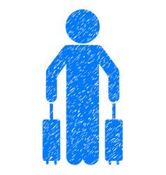 Child passenger grunge icon vector