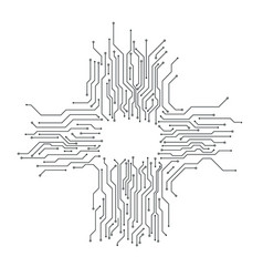 circuit board background card thin line graphic vector image