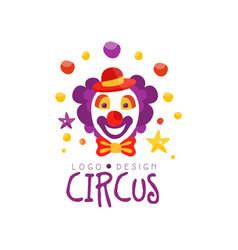 circus logo design carnival festive circus show vector image