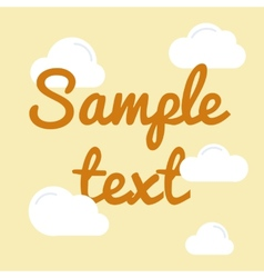 Cloud with text in flat style vector image