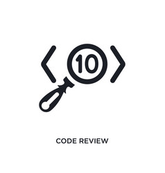 Code review isolated icon simple element from vector