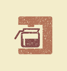 Coffee maker icon vector