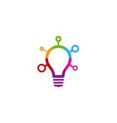 Color idea logo icon design vector