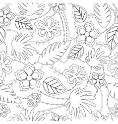 Coloring antistress with hawaiian pattern vector image