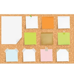 Cork board with notes vector