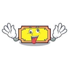 Crazy ticket mascot cartoon style vector