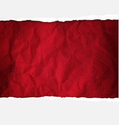 Crumpled red paper vector