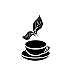 Cup of tea icon simple style vector image