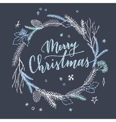 Cute Chtistmas card vector image