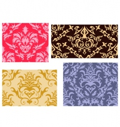 damask backgrounds set vector image