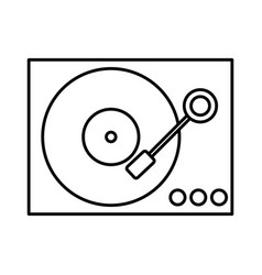 dj turntable icon vector image