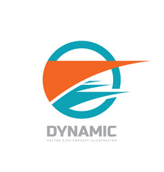 dynamic - business logo template concept vector image
