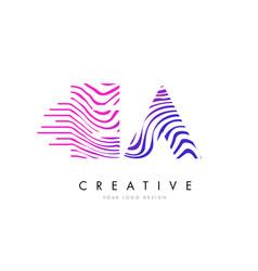 Ea e a zebra lines letter logo design with vector
