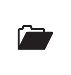 folder icon in flat style for app ui websites vector image