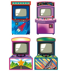 Four design of arcade gameboxes vector