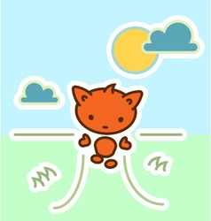 Funny cute cartoon walking animal vector