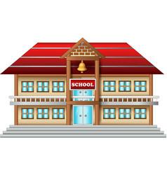 Funny school house cartoon vector