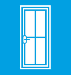 glass door icon white vector image