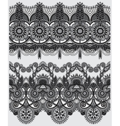 Grey collection of seamless ornamental floral vector