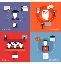 higher education flat vector image