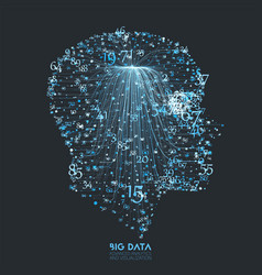 human big data visualization futuristic vector image