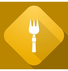 icon of Fork with a long shadow vector image