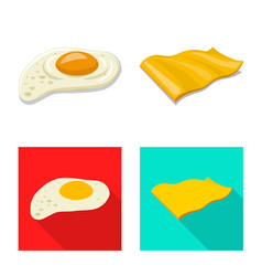 Isolated object of burger and sandwich symbol set vector