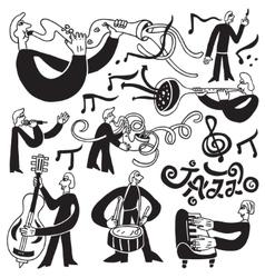 Jazz musicians symbols vector
