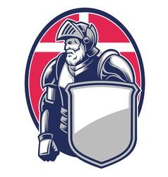 knight mascot open helmet vector image