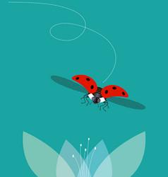Ladybug flies vector