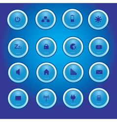 laptop and PC indication blue light buttons eps10 vector image