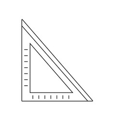 Line square ruler school tool to study vector