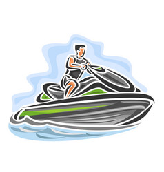 man on jet ski vector image