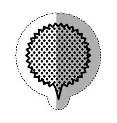 Monochrome sticker with circular speech with vector