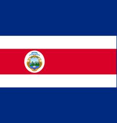 National costa rica flag vector