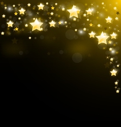 Night sky studded with sparkling stars vector image