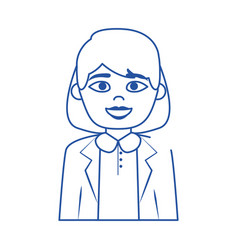 online female doctor medical staff character blue vector image