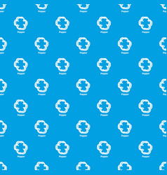 pepper pattern seamless blue vector image