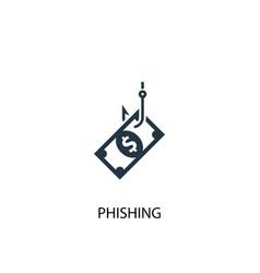 Phishing icon simple element vector