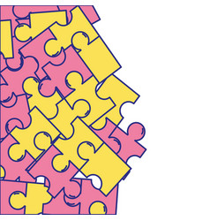 puzzle pieces game background design vector image