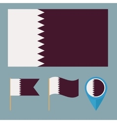 Qatarcountry flag vector image