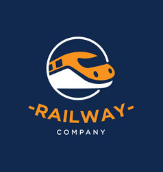 railway train logo design inspiration vector image
