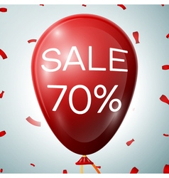Red Baloon with 70 percent discounts SALE concept vector
