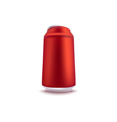 red blank aluminum can vector image