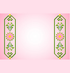 rosemaling background with floral ornaments in vector image